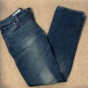 2/$20: Gap Distressed-look Straight Cut Jeans